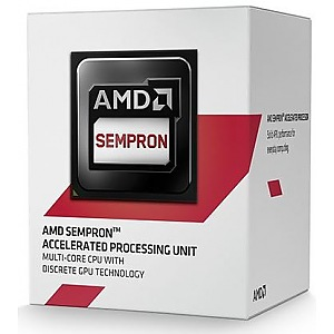 купить Процессор AM1 AMD Sempron X4 3850 Box / 4x1,3GHz SD3850JAHMBOX