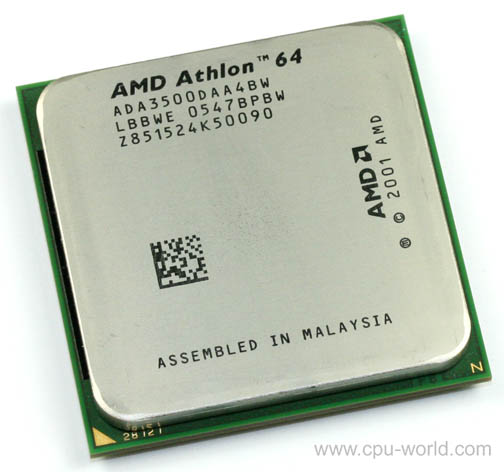 Фото товара: Процессор AM2 AMD Athlon 64 3500+ Tray (1x2.2GHz) ADA3500IAA4CW