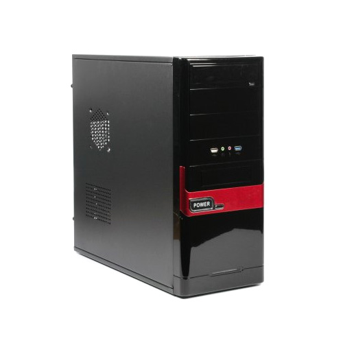 "Фото товара: Корпус Maxxter CCC-D1-02R ATX, 5шт.x3.5"",3шт.x5.25"", USB3.0, Audio, без БП"