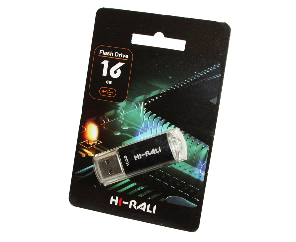 купить USB Flash Drive 16Gb Hi-Rali Rocket series Black / HI-16GBVCBK