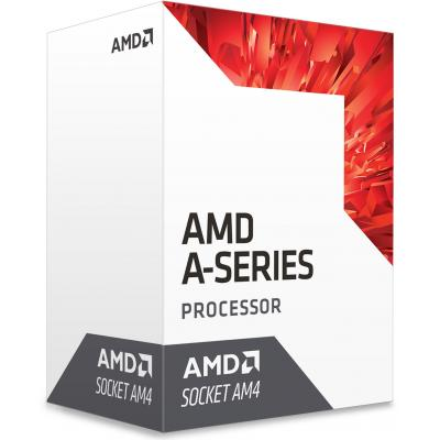 Фото товара: Процессор AMD A6-9500 (AD9500AGABBOX) AM4, 2 ядра, 3.50GHz, Radeon R5 series, L2: 1MB, 28nm, 65W, BOX, Excavator