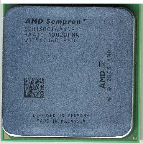 Фото товара: Процессор AM2 AMD Sempron LE-1300, Tray, 2.3 GHz, L2 512Kb, Sparta, TDP 45W